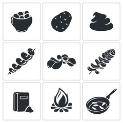Potato Vector Icons Set