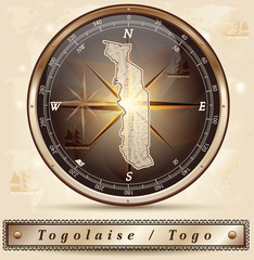 Karte von Togo