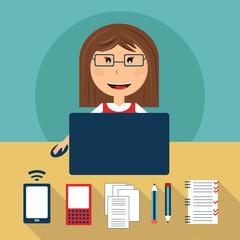 Set of freelance career