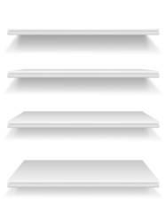 plastic shelf vector illustration