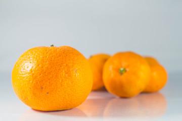 Citrus fruits  on background