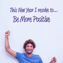 Composite image of in this new year i resolve to