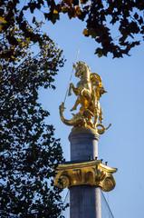 St George Statue in Tbilisi, Georgia