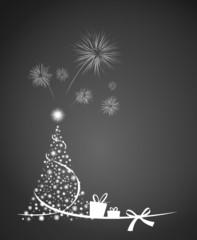 Weihnachtsbaum Feuerwerk