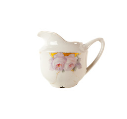 Porcelain Gravy boat with floral ornament