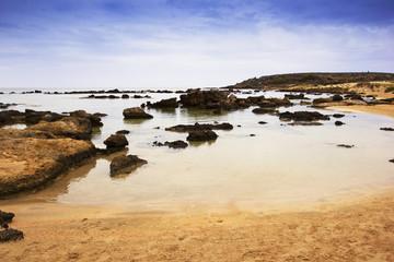 beautiful rocky beach, Crete, Greece