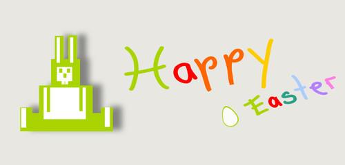osterhasen grün happy papier