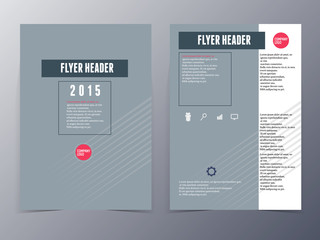 grey formal style  flyer template