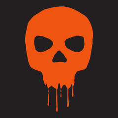 Skull with blood.