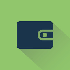 Wallet on background shadow.