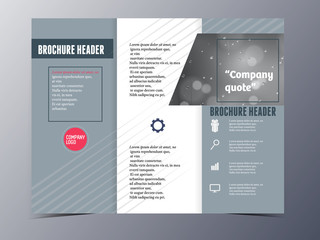 grey formal style brochure template