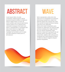 banners with blend waves