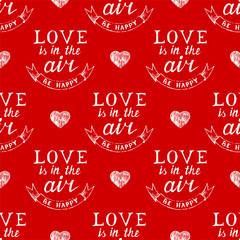 Valentine's day typography  seamless