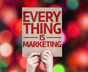 Every Thing is Marketing card with colorful background