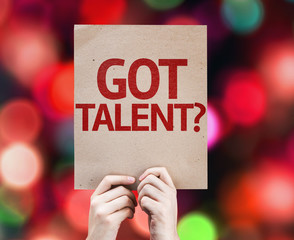 Got Talent? card with colorful background