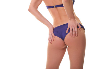 Backview of female wearing bikini