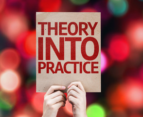 Theory Into Practice card with colorful background