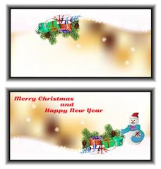 small Christmas greeting card