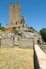 Ruins of castle Carpineti on Emilia Romagna