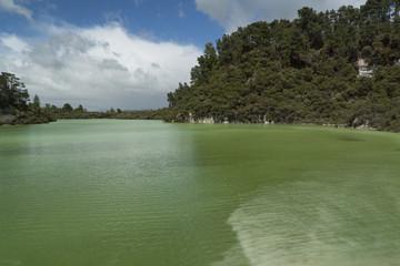 Volcanic lake. New Zealand