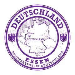 Grunge rubber stamp with words Deutschland, Essen