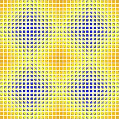 yellow blue optical diamond