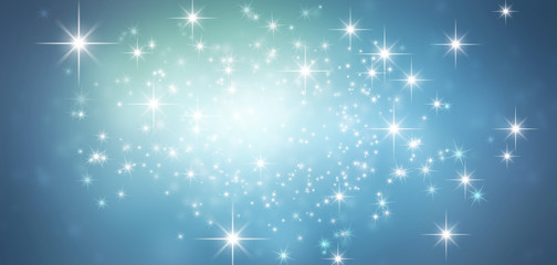festive sparkling blue background