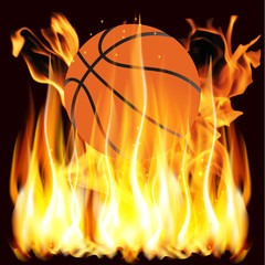 flames and basketball