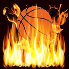 flames and basketball