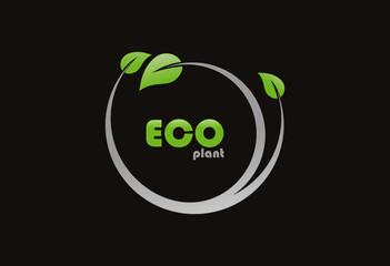 Ecology plant logo vector