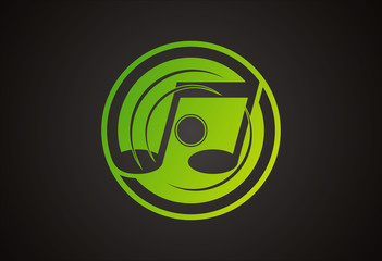 disc music logo vector