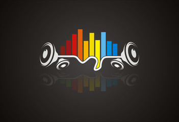 Sound wave music logo vector