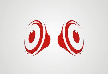 Speakers logo vector