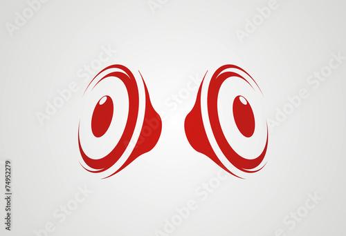 Speakers logo vector - 74952279
