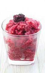 fresh raspberry granita