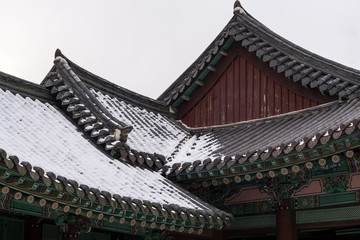 Korean traditional architecture of Gwanghalluwon Pavilion.