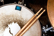 Music background.Drum close up image. - 74953082
