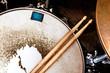 Leinwanddruck Bild - Music background.Drum close up image.
