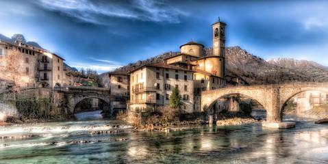 mountain village of s. Giovanni Bianco, Italy
