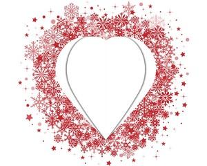 Christmas heart postcard