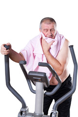 Healthy man exercising.
