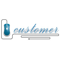 Customer word with computer mouse
