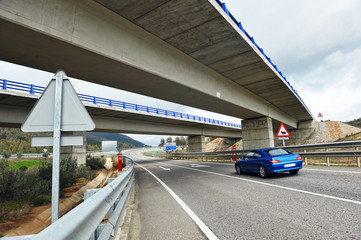 Overpass, highway, Spain