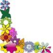 bordure en fleur