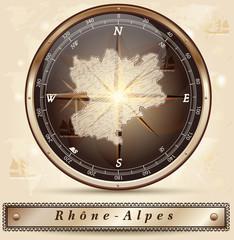 Karte von Rhrone-Alpes