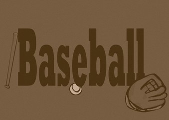 Baseball header vintage