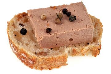 Amuse-bouche au foie gras avec des baies
