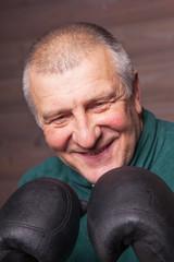 Strong man boxing.