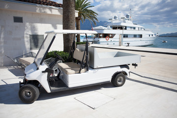 golf cart at marina