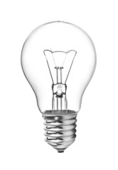 Light bulb isolated on white.